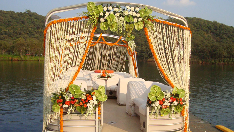colourful Flower stage decoration - Spree Designs