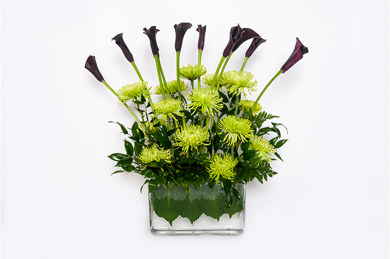 Green Monochrome Flower Bouquet - Spree Designs