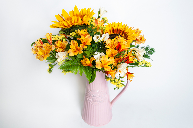 Orange Flower Bouquet - Spree Designs